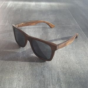 Other - Dark Wooden Mirrored Sunglasses